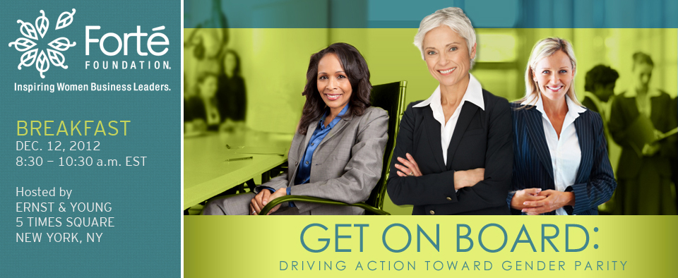 Get on Board: Driving Action Toward Gender Parity